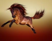 красный цвет лошади иллюстрация вектора