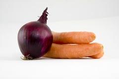 красный цвет лука морковей свежий Стоковая Фотография