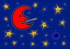 красный цвет луны Стоковые Изображения