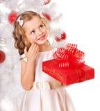 красный цвет малыша подарка рождества коробки Стоковое Фото