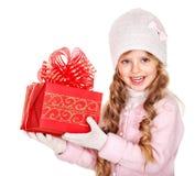 красный цвет малыша подарка рождества коробки Стоковые Изображения RF