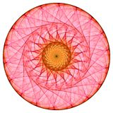 красный цвет мандала Стоковое Изображение