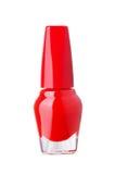 красный цвет маникюра бутылки Стоковые Изображения