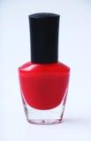 красный цвет маникюра Стоковое Изображение