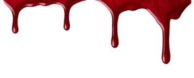 красный цвет маникюра Стоковые Изображения RF