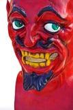 красный цвет маски демона Стоковые Фотографии RF