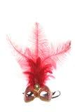красный цвет маски mardi gras Стоковое Изображение