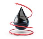 красный цвет масла падения стрелки moving Стоковая Фотография RF