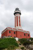 красный цвет маяка Стоковые Фотографии RF