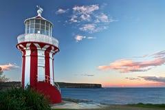 красный цвет маяка Стоковое Изображение
