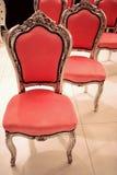 красный цвет мебели Стоковые Фото