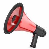 Красный цвет мегафона стоковые изображения rf
