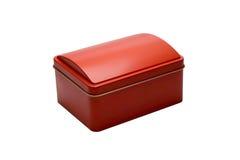 красный цвет металла коробки Стоковое фото RF