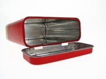 красный цвет металла коробки стоковое фото