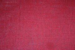 красный цвет мешковины предпосылки Стоковое Фото