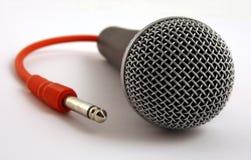 красный цвет микрофона руководства Стоковое фото RF