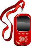 красный цвет мобильного телефона Стоковая Фотография RF