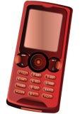 красный цвет мобильного телефона Стоковое Фото