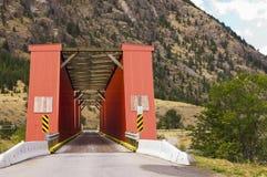 красный цвет моста старый Стоковая Фотография RF