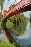 красный цвет моста Стоковое Изображение