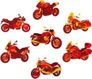 красный цвет мотоцикла икон итальянский Стоковые Фотографии RF