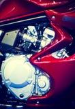 красный цвет мотоцикла двигателя Стоковые Фото