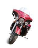 красный цвет мотоцикла Стоковые Фото