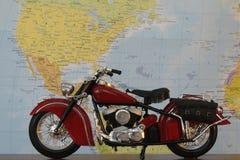 красный цвет мотоцикла Стоковое Изображение