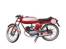 красный цвет мотоцикла Стоковое Фото
