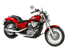 красный цвет мотоцикла стоковая фотография
