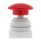 красный цвет нажима кнопки непредвиденный Стоковое Изображение RF