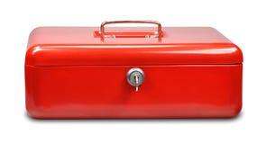 красный цвет наличных дег коробки Стоковые Изображения
