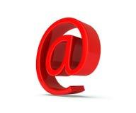 Красный цвет на символе. изображение 3d Стоковые Фото