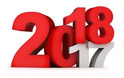 Красный цвет 2018 Нового Года знака Стоковые Изображения