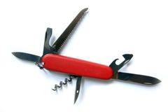 красный цвет ножа фермуара Стоковые Изображения RF