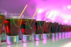 красный цвет номера коктеилов Стоковая Фотография RF