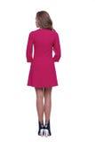 Красный цвет носки волос брюнет формы тела женщины стиля моды совершенный Стоковое Фото