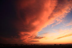 красный цвет облака Стоковое Изображение RF