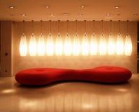 красный цвет обстановки нутряной светлый Стоковое Изображение RF