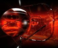 красный цвет объектива Стоковая Фотография RF