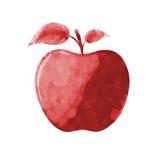 красный цвет логоса иллюстрации конструкции яблока, котор нужно использовать Стоковая Фотография RF