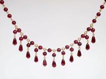 красный цвет ожерелья венисы Стоковое Изображение