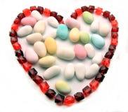 красный цвет ожерелья сердца Стоковое Фото