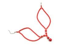красный цвет ожерелья стоковые изображения rf