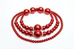 красный цвет ожерелья Стоковое Фото