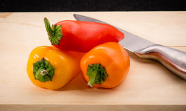 Красный цвет, оранжевый и желтый перец младенца/capsicum Стоковые Фото