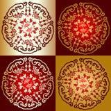 красный цвет орнамента золота Китая Стоковая Фотография RF