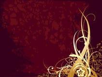 красный цвет орнамента золота предпосылки Стоковое Изображение RF