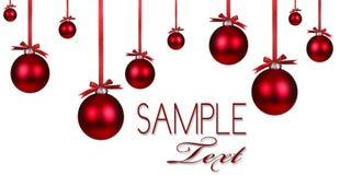 красный цвет орнамента праздника рождества предпосылки Стоковая Фотография RF