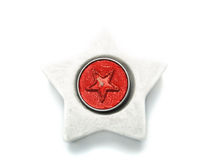 красный цвет орнамента рождества свечки Стоковое Изображение RF